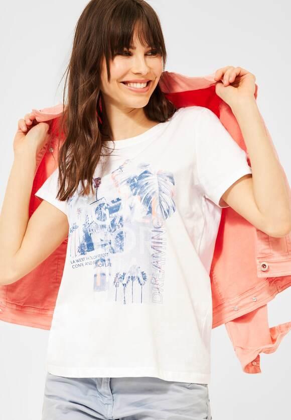 Cecil   T-Shirt mit Print   Farbe: pure off white 30125, 316348