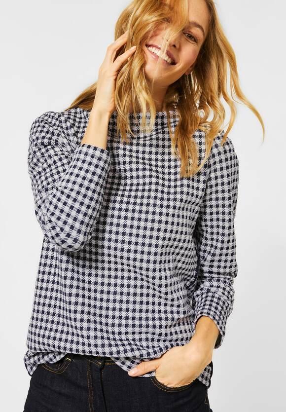 Cecil | Shirt mit Vichy-Karo | Farbe: pure off white 20125, 315711
