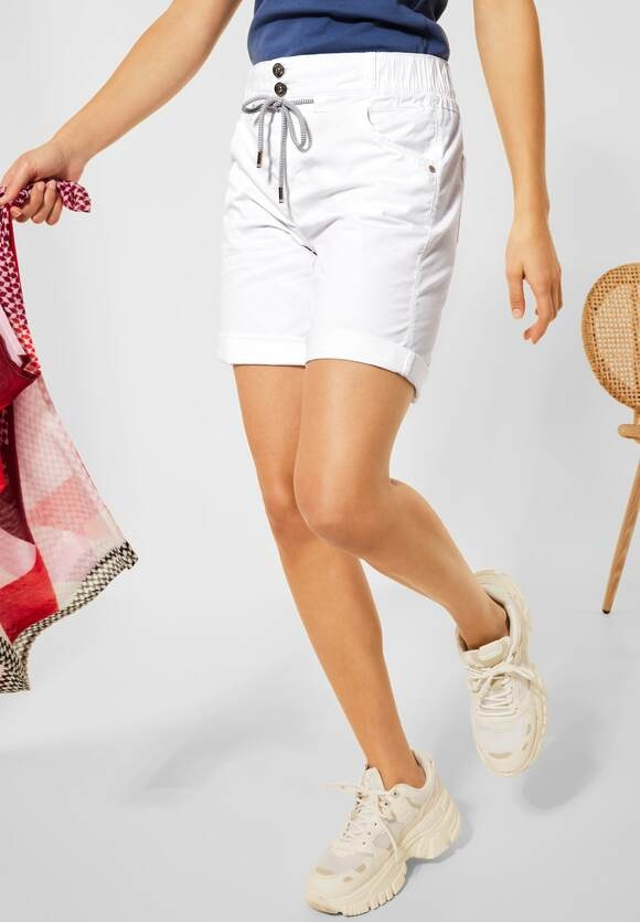 """Street One   Loose Fit Shorts """"Bonny"""" in Unifarbe   Farbe: white 10000, 374224"""