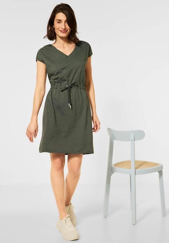 Cecil | Kleid mit Streifen Muster | Farbe: utility olive23036, 142907