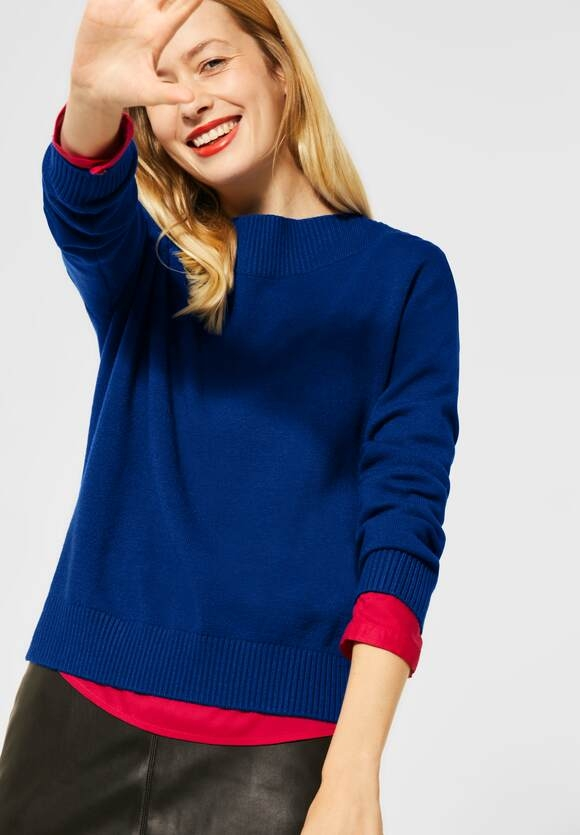 Street One | Softer U-Boot Pullover | Farbe: cobalt blue 11784, 301369