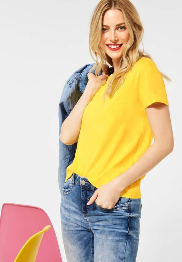 Street One | Basic T-Shirt | Farbe: sunlit yellow 12904, 316118