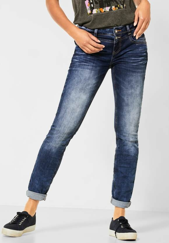 Street One | Casual Fit Denim | Farbe: sportive blue indigo wash 12599, 373377