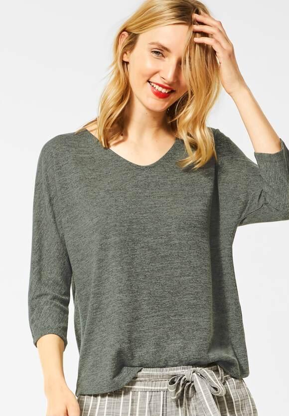 Street One | Shirt mit Struktur-Optik | Farbe: shady olive melange 12444, 315197
