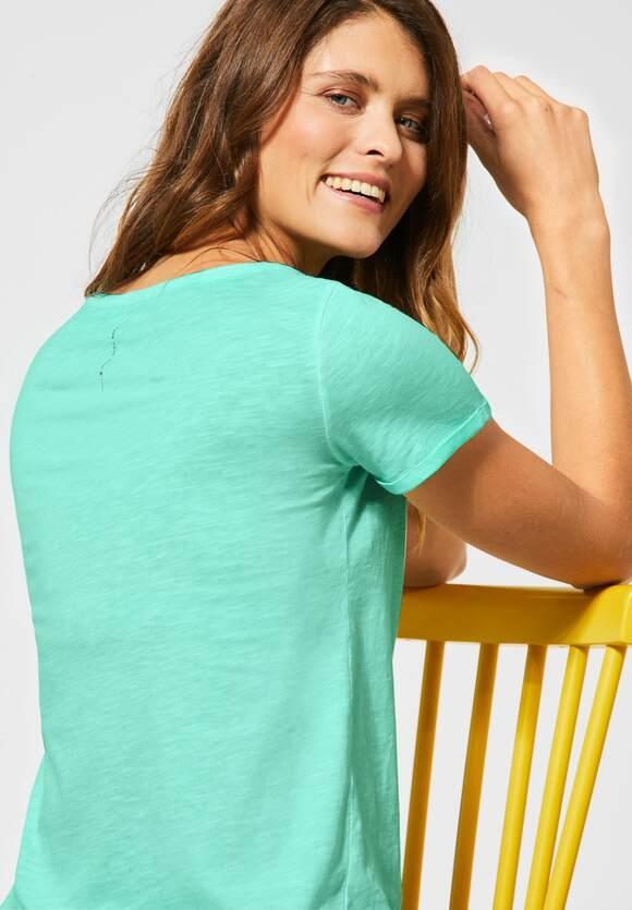 Cecil   T-Shirt mit Flammgarn   Farbe: mint green 12175, 315312