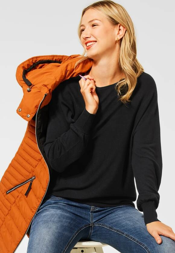 """Street One   Pullover """"Noreen"""" in Unifarbe   Farbe: black 10001, 301559"""