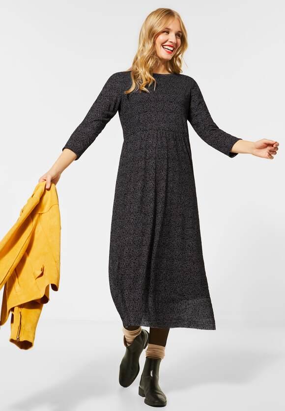 Street One | Midi-Kleid mit Mesh | Farbe: black 20001, 142792