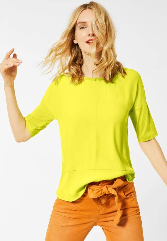 Street One | Shirt mit Materialmix | Farbe: apple green 12438, 315284
