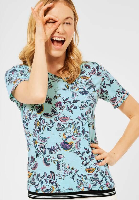 Cecil   T-Shirt mit Paisley Print   Farbe: multicolored mint mel 32722, 316181