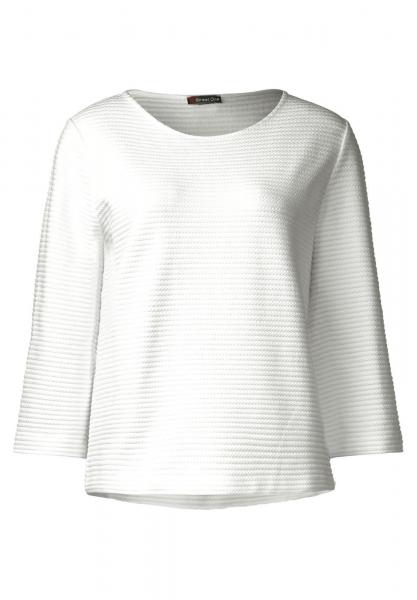 street one struktur shirt mit 3 4 arm farbe off white 10108 300561 3 4 arm shirts. Black Bedroom Furniture Sets. Home Design Ideas