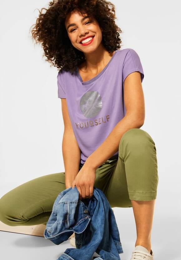 Street One   T-Shirt mit Folienprint   Farbe: clear lilac 32898, 316120