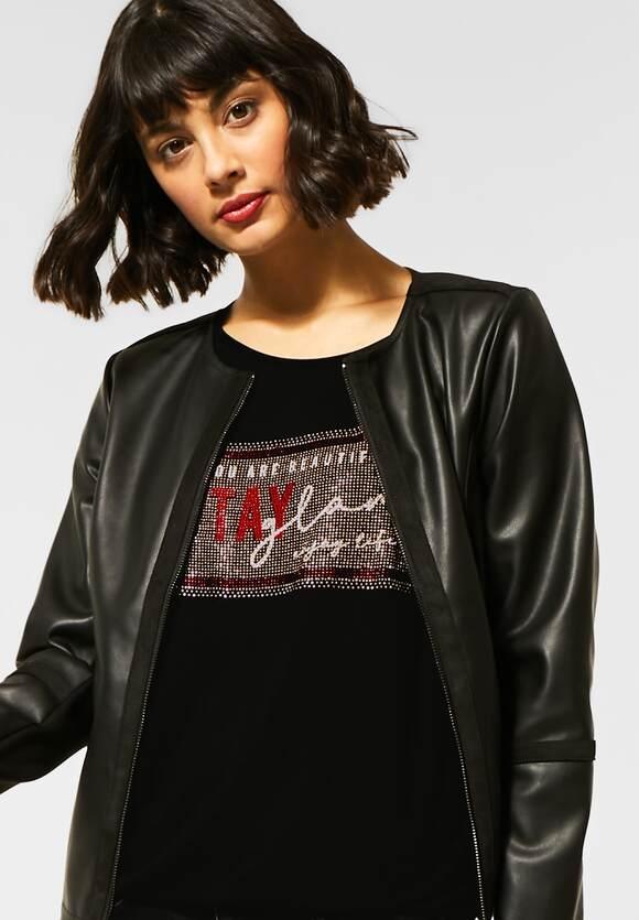 Street One   T-Shirt mit Artwork   Farbe: black 30001, 315534