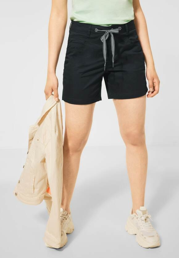 """Street One   Loose Fit Shorts """" Bonny"""" in Unifarbe   Farbe: neo grey 11017, 374060"""