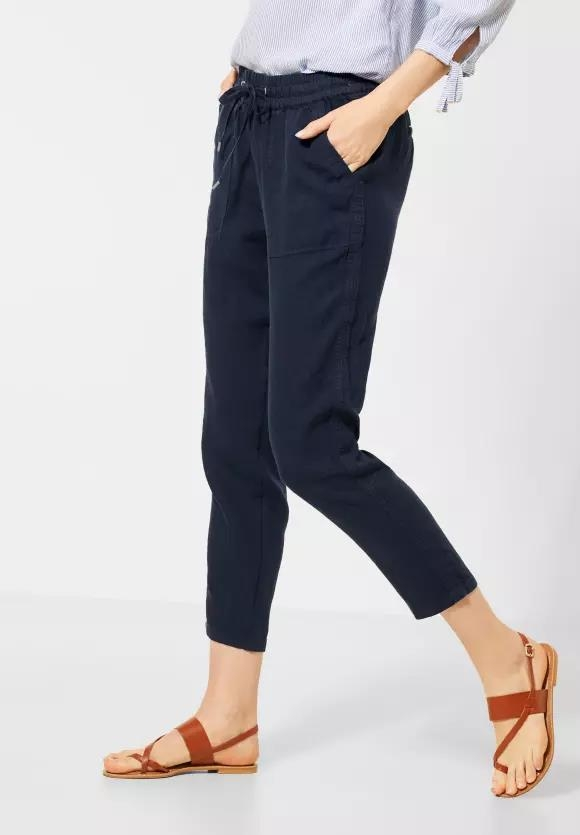 "Cecil | Leinen-Hose ""Chelsea"" im Loose Fit 
