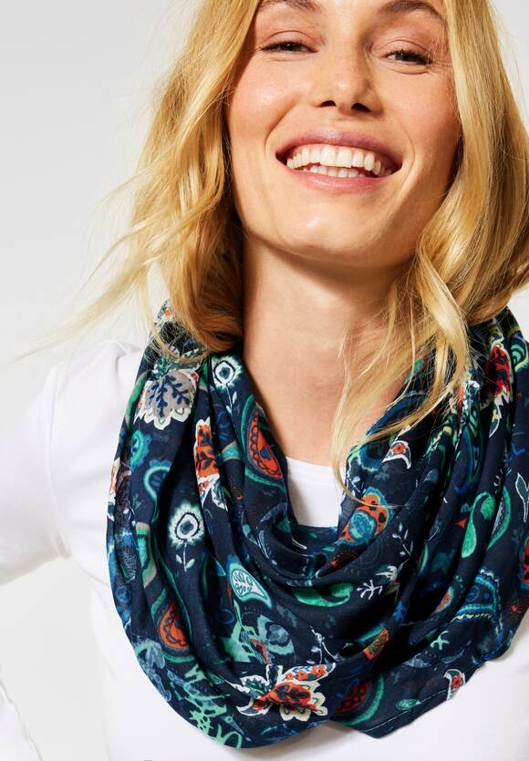 Cecil | Loop mit Paisley | Farbe: deep blue 30128, 571308