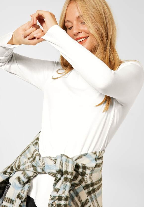 "Street One | Shirt ""Lanea"" in Unifarbe | Farbe: off white 10108, 316885"