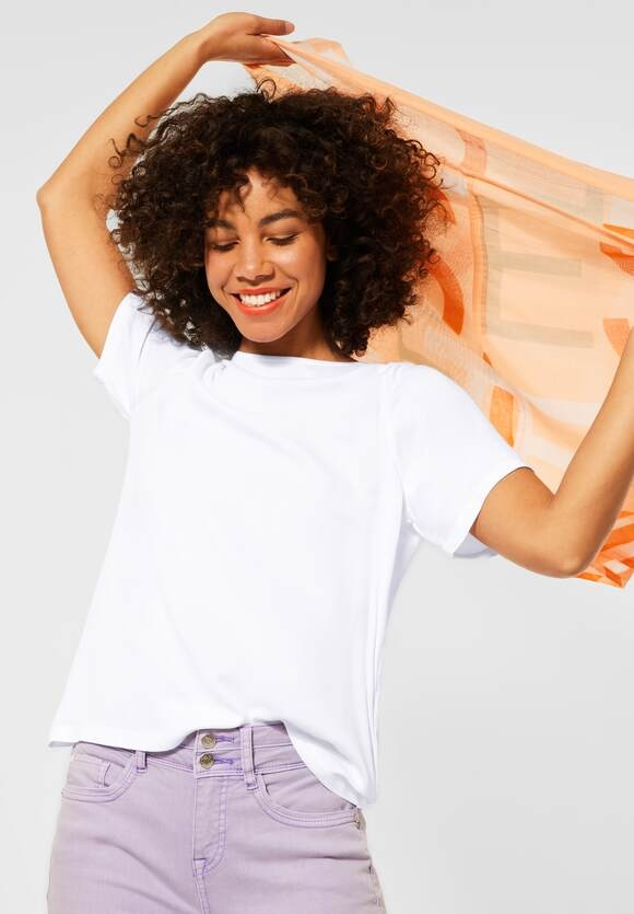 Street One | T-Shirt im Materialmix | Farbe: white 10000, 316391