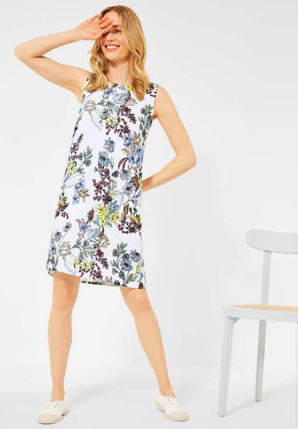 Cecil | Kleid mit Blumenprint | Farbe: white 30000, 142855