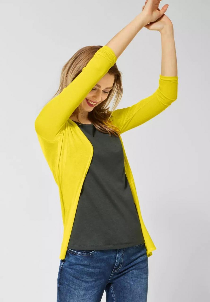 Street One | Strickjacke in zarter Optik | Farbe: shiny yellow 12201, 314830