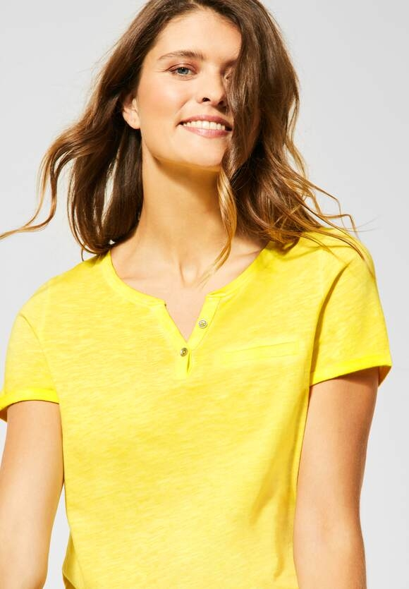 Cecil | T-Shirt mit Flammgarn | Farbe: radiant yellow 12360, 315312