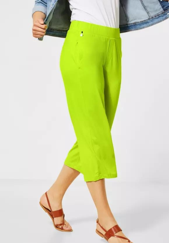 Street One | Wide Leg Hose aus Jersey | Farbe: laser lime 12368, 373290