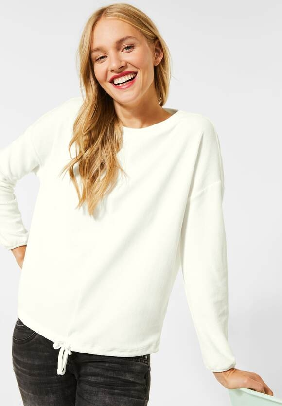 Street One | Flauschiges Babycord-Shirt | Farbe: off white 10108, 315368