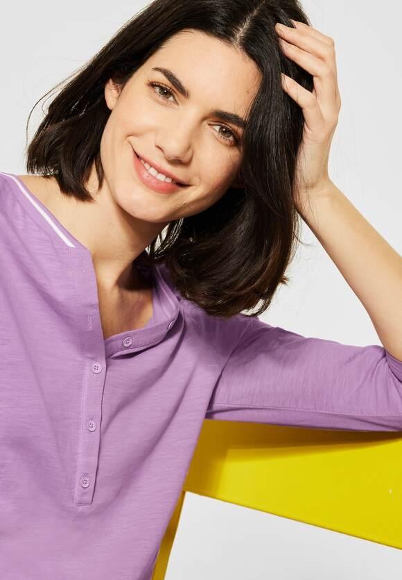 Cecil | Shirt mit Flammgarn | Farbe: soft violet 12746, 315796