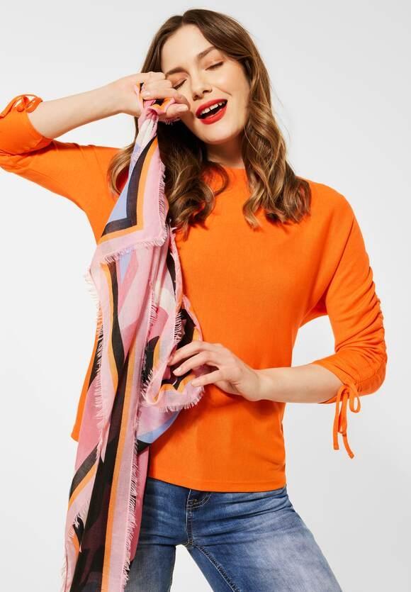 Street One | Shirt mit Raffungen | Farbe: shiny tangerine 12905, 316018
