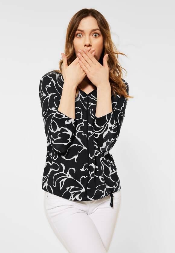 Street One   Shirt mit Materialmix   Farbe: black 20001, 316103
