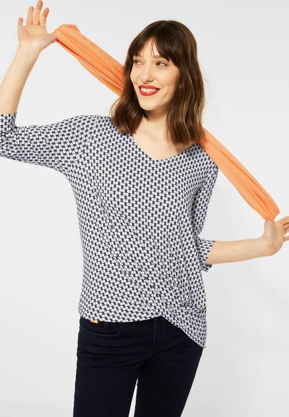 Street One | Shirt mit Knotendetail | Farbe: white 20000, 316095