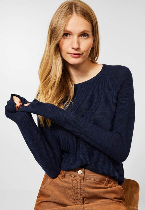 CECIL   Melange Pullover   Farbe: deep blue heather melange 11945, 301581