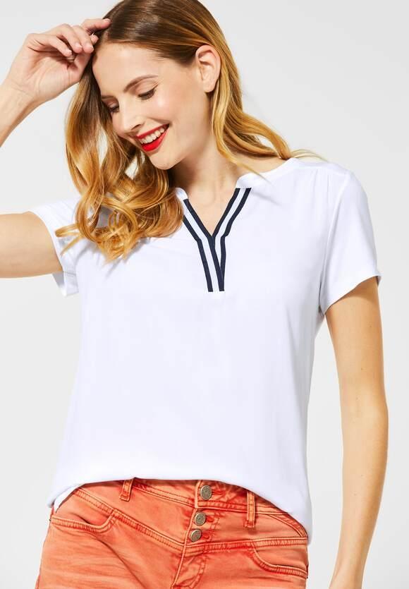 Street One | Shirt mit College-Detail | Farbe: white 10000, 314812