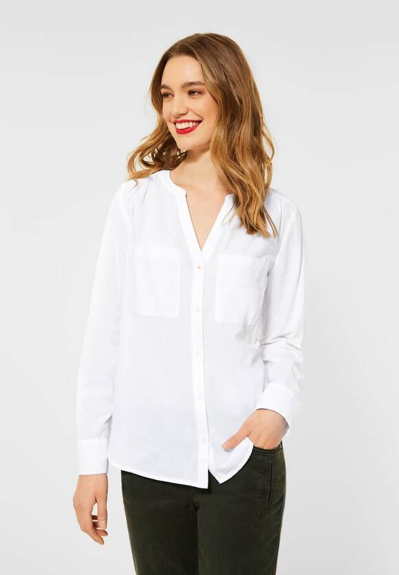 Street One   Bluse in Unifarbe   Farbe: white10000, 342555