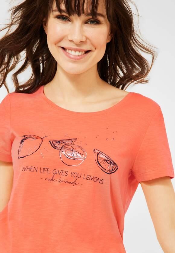 Cecil   T-Shirt mit Motiv   Farbe: fresh coral 33038, 316351