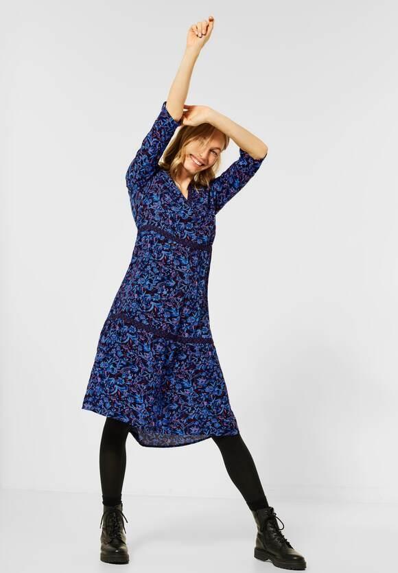 Cecil | Kleid mit Blumenmix | Farbe: deep blue 30128, 142840