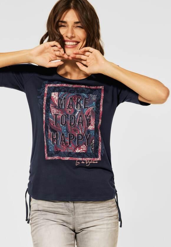 Cecil   T-Shirt mit Partprint   Farbe: deep blue 30128, 316735