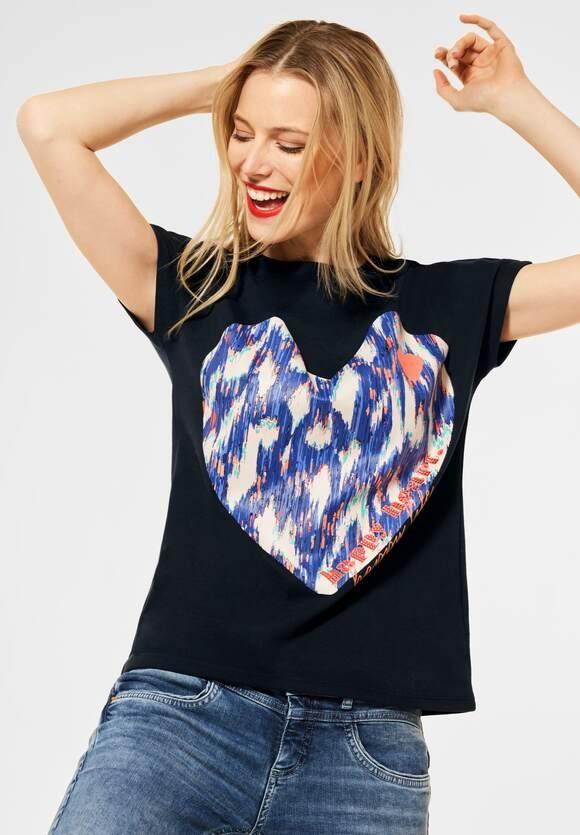 Street One   Shirt mit Frontprint   Farbe: dark blue 32552, 315957