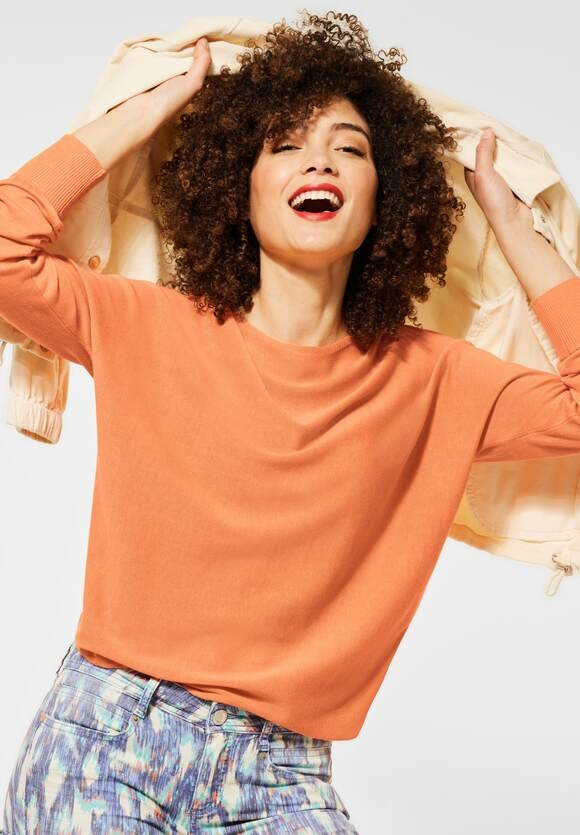 Street One   Pullover mit Dolmanärmeln   Farbe: strong mandarine 12811, 301498