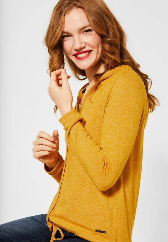 """Street One   Shirtjacke """"Lienne"""" in Melange  Farbe: amber yellow 12461, 315498"""