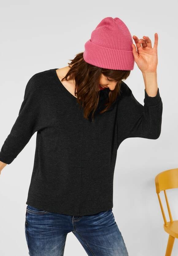 """Street One   Basic Shirt """"Ellen"""" mit Raffung   Farbe: anthracite 11498, 316888"""