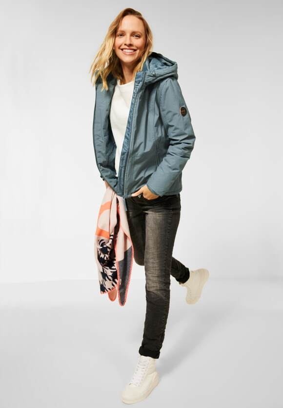 CECIL | Outdoor Jacke mit Kapuze | Farbe: trooper green melange 13159, 201577