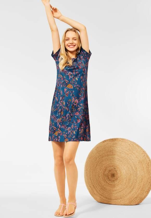 Cecil | Kleid mit Paisley Print | Farbe: ocean blue 32972, 142906