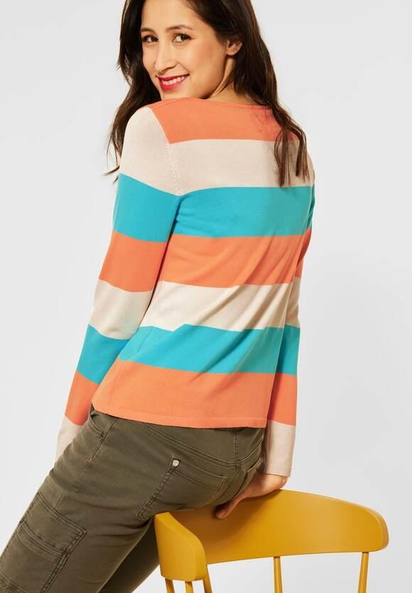 Street One | Pullover mit Streifen | Farbe: strong mandarine 32811, 301500