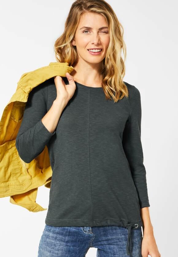 Cecil | Shirt in Strick-Optik | Farbe: slate green 11687, 315274
