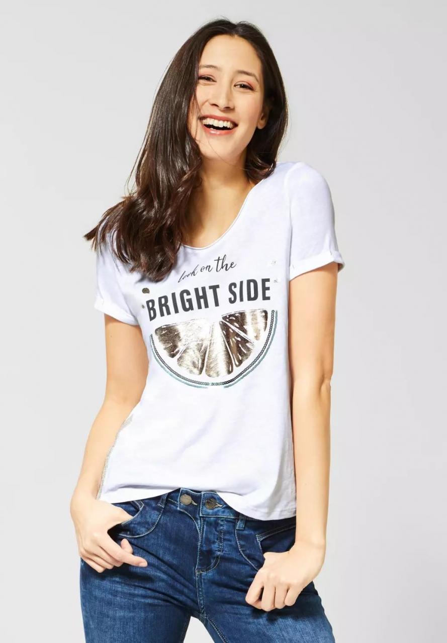 Street One | T-Shirt mit Aufdruck | Farbe: white 30000, 314677