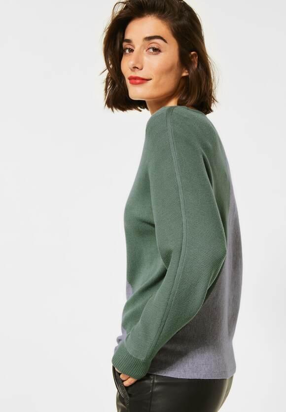 Street One | Pullover mit Colourblock | Farbe: rich celadon mel 22568, 301358