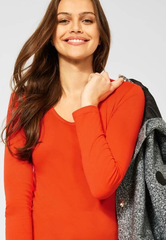 "CECIL   Basic Shirt ""Pia"" in Unifarbe   Farbe: paprika orange 13278, 316936"
