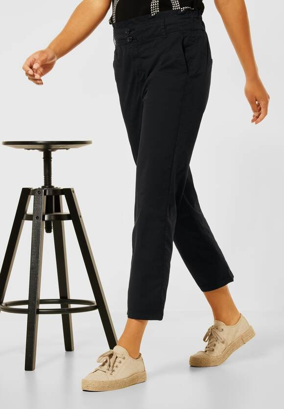 Street One | Loose Fit in High Waist | Farbe: black 10001, 374145