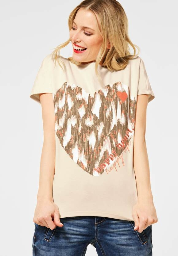Street One | Shirt mit Frontprint | Farbe: bright sand 32855, 315957