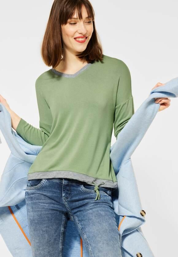 Street One   Shirt mit V-Ausschnitt   Farbe: faded green 12902, 316041
